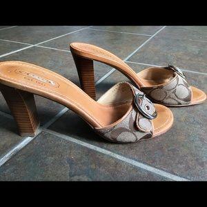 Coach buckle sandals heels size 7.5
